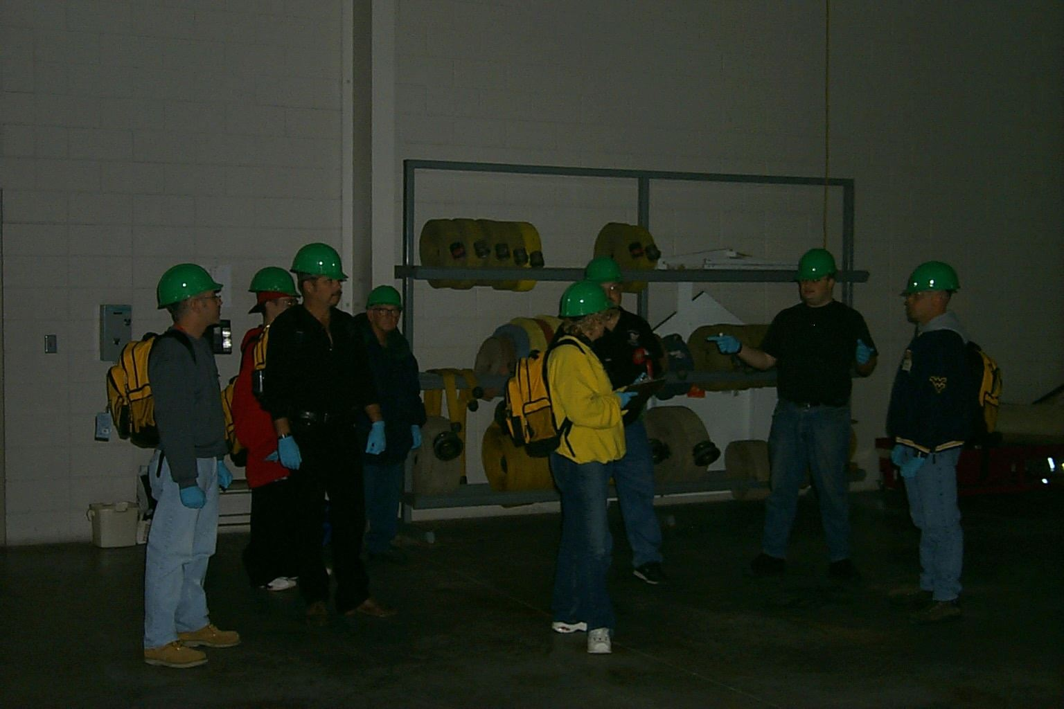 Group with Green Helmets